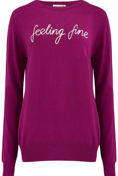 Velma fine knitted sweater Violet