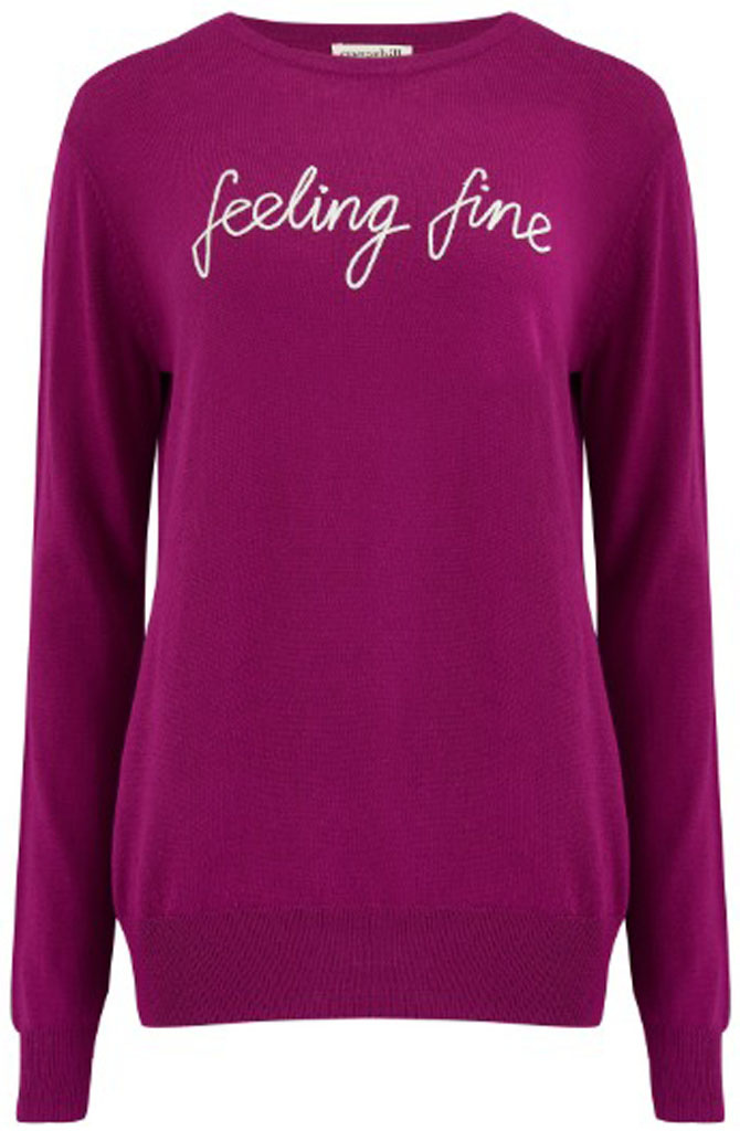 Velma fine knitted sweater Violet-1