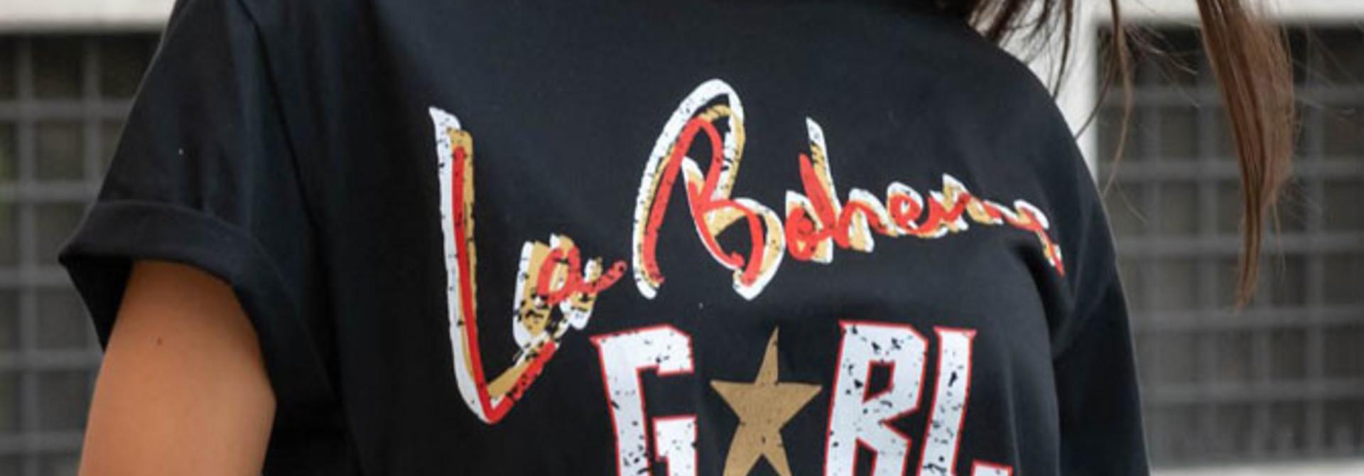 La boheme girl boxy t-shirt Black