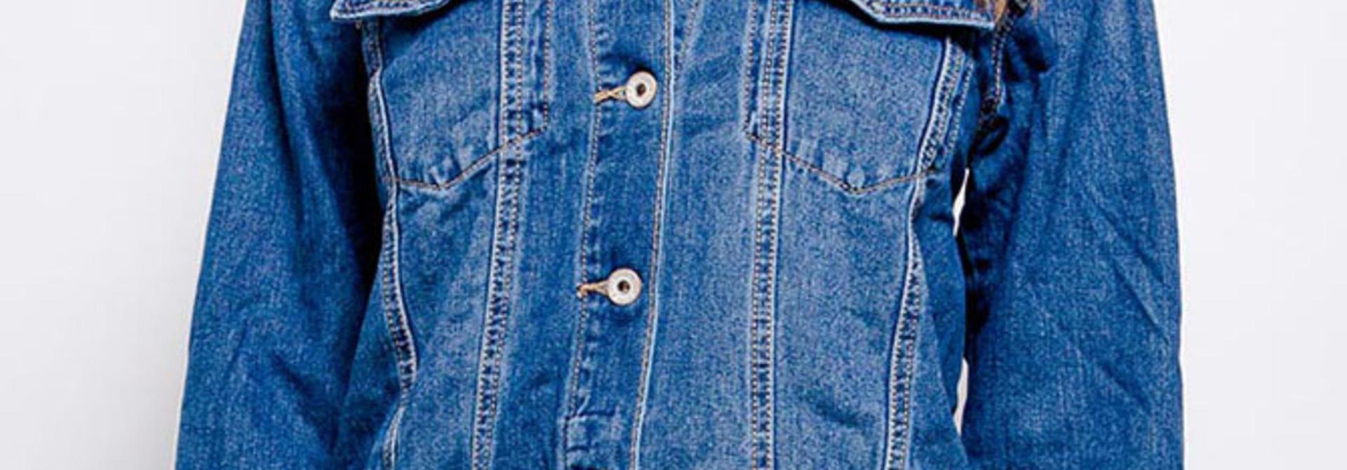 Solveig long denim jacket Blue