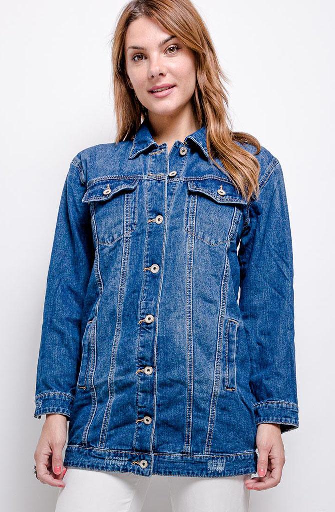 Solveig long denim jacket Blue-1