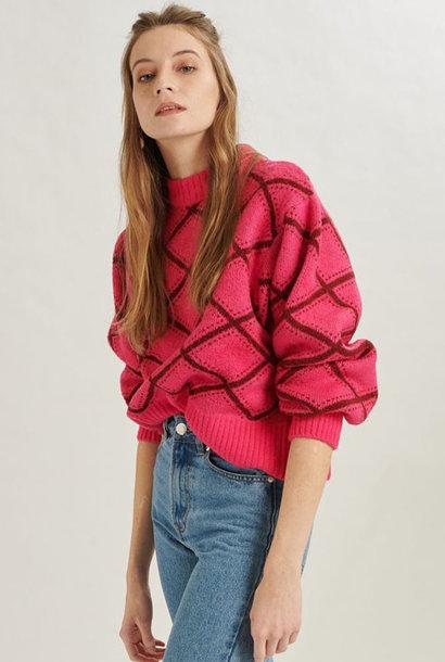 Stepfi oversized knit Fushia