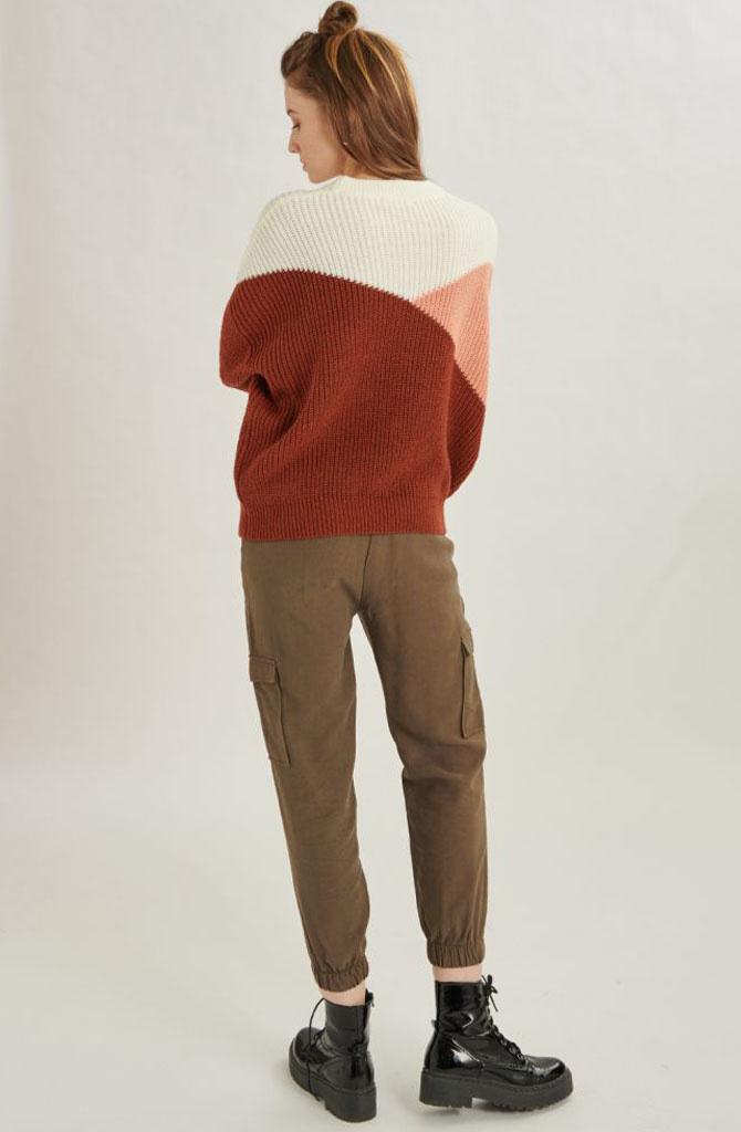 Graffëa knitted sweater Rust-4