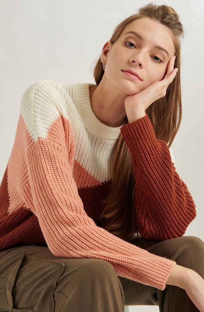 Graffëa knitted sweater Rust-1