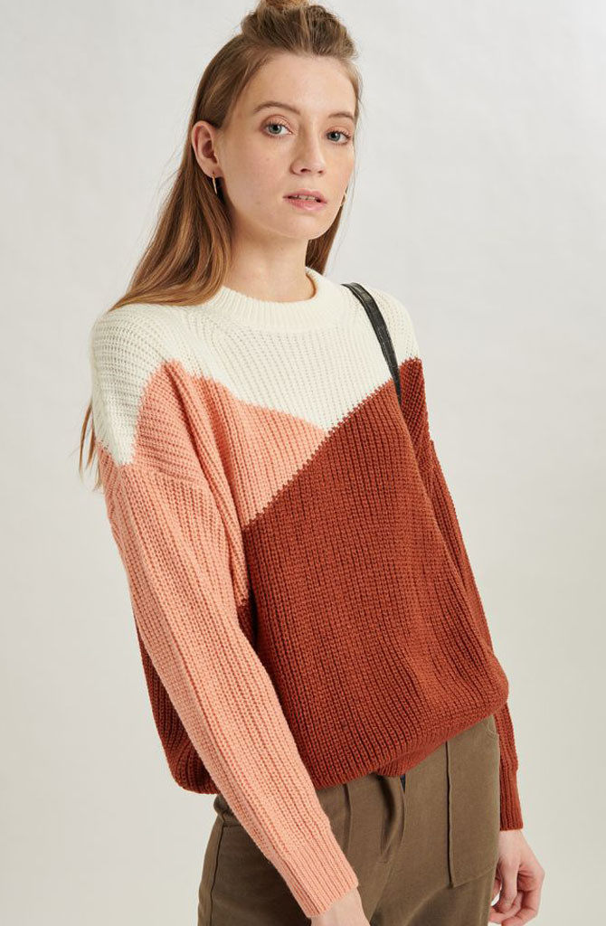 Graffëa knitted sweater Rust-2