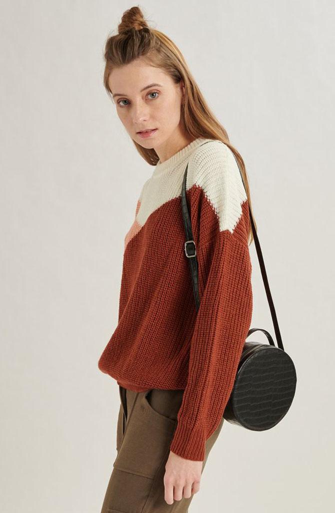 Graffëa knitted sweater Rust-3