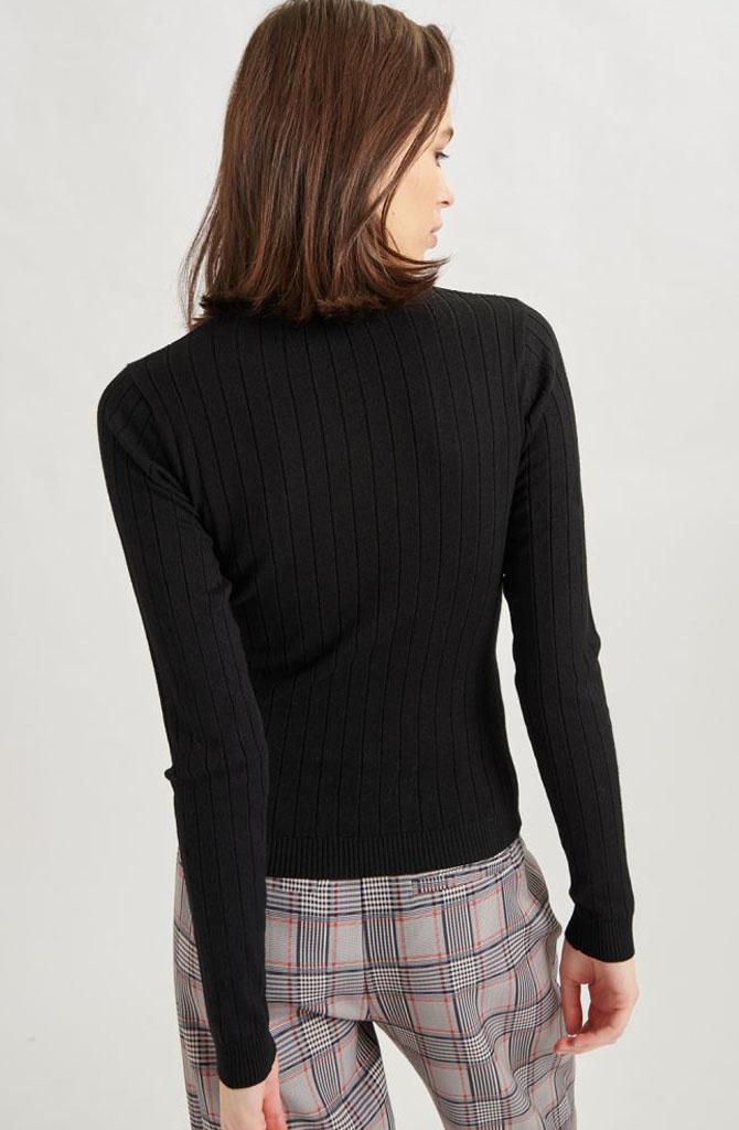Malika fine knitted pull Black-2