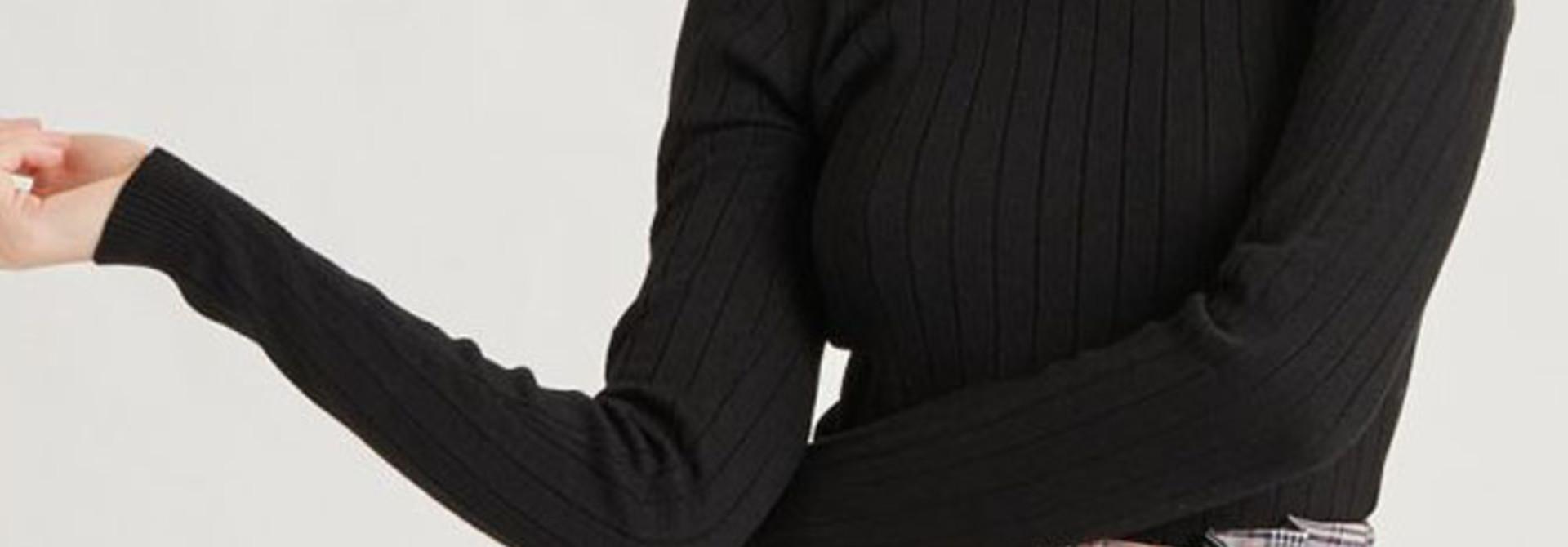Malika fine knitted pull Black