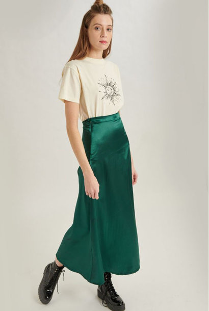 Juuna satin skirt Green