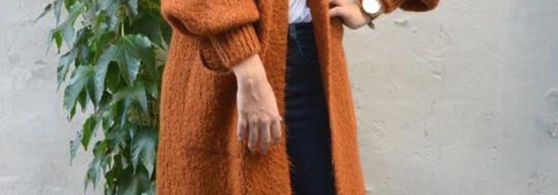 Xoxo long fluffy cardigan Brandy