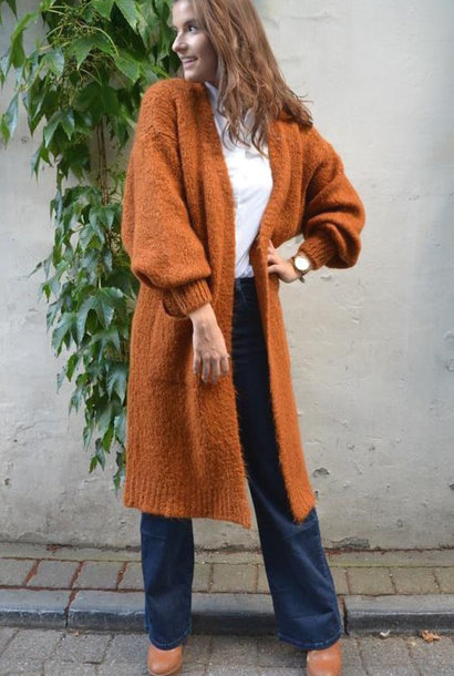 Xoxo long fluffy cardigan Brandy