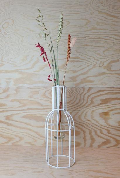 Urban metal mesh vase White