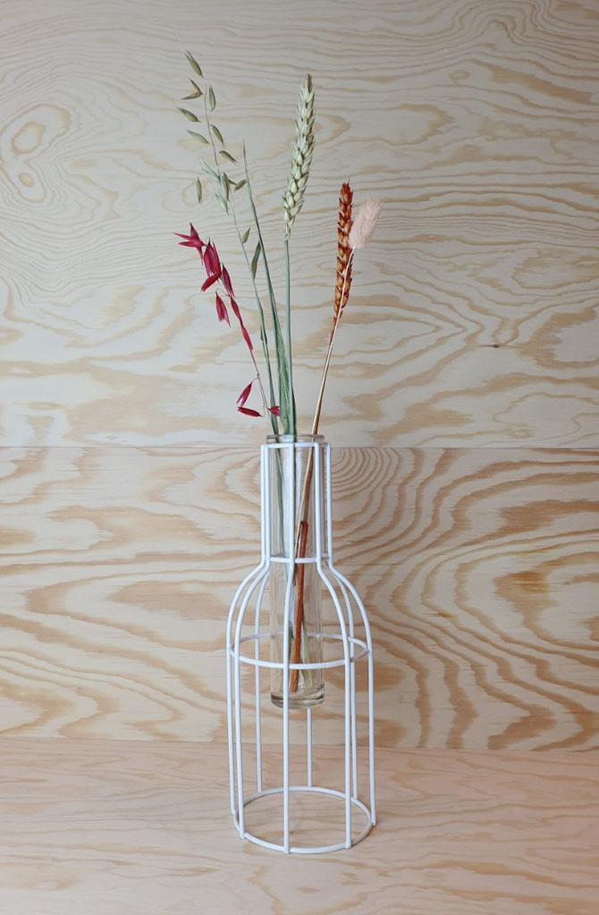 Urban metal mesh vase White-1