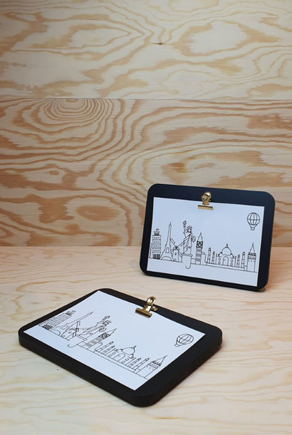 Urban photo frame clips horizontal Black