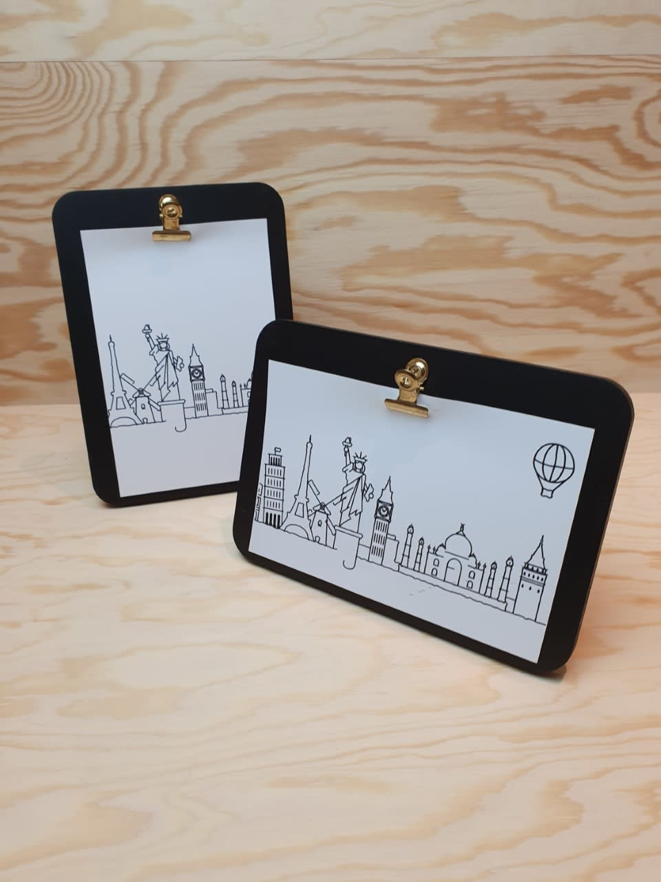 Urban photo frame clips horizontal Black-3