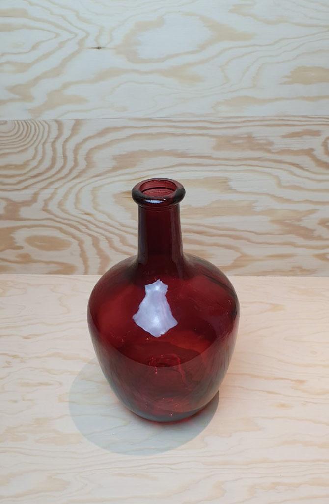 Wide bottle vase Burgundy-3