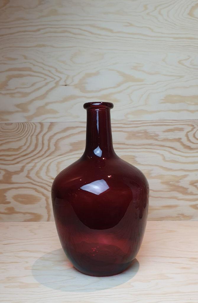 Wide bottle vase Burgundy-2