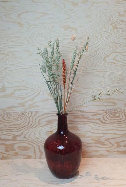 Wide bottle vase Burgundy