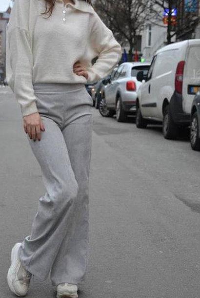 Charro corduroy wide pant Grey