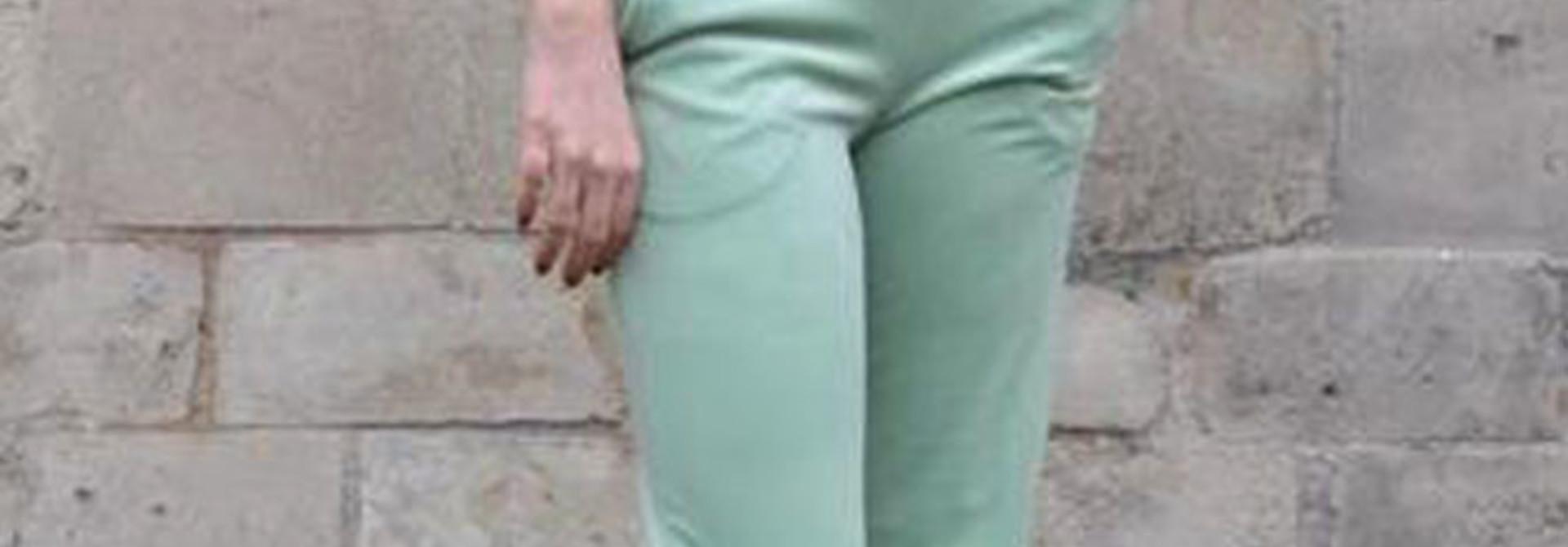 Lancio velvet pant Blossom Green