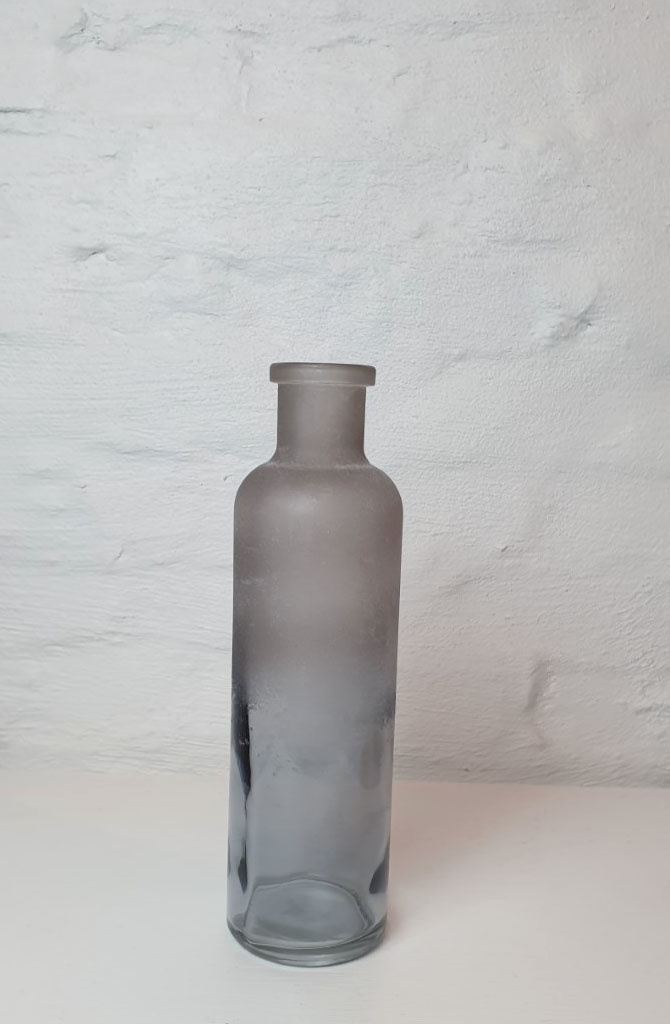 Bottle vase moira XS Iced Black-1