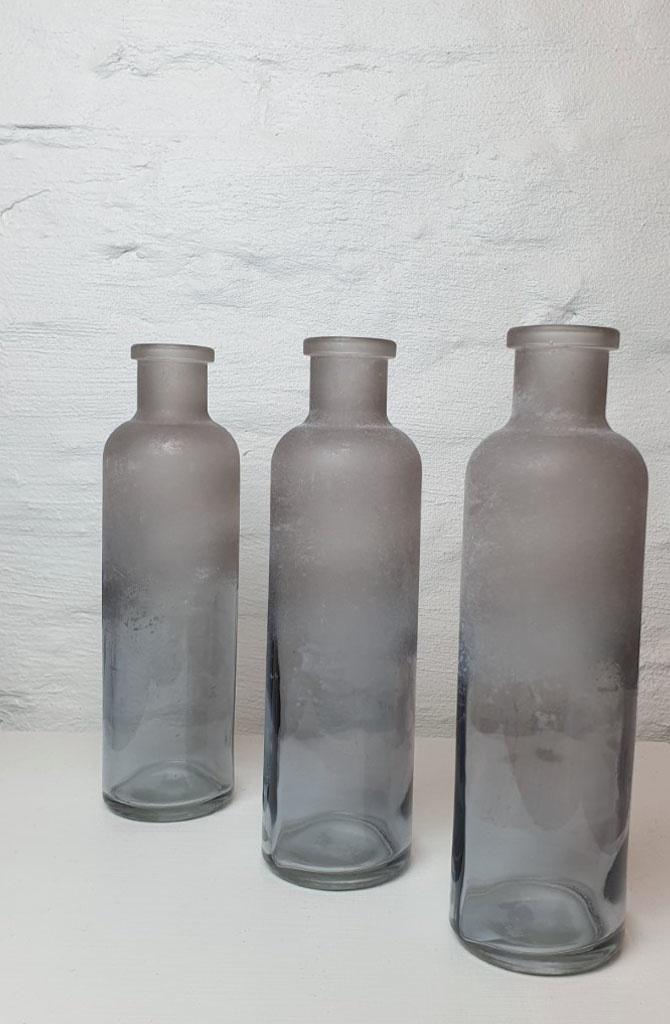 Bottle vase moira XS Iced Black-2