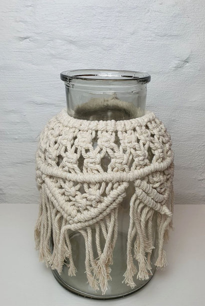 Vase Macrame h26  Naturelle