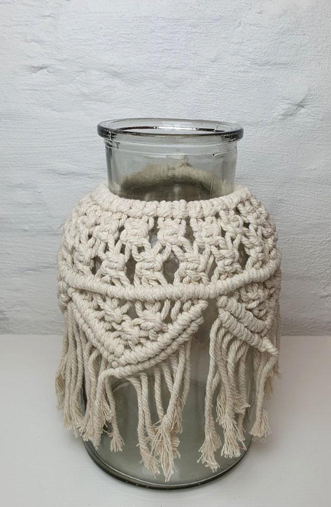 Vase Macrame h26 Naturelle-1