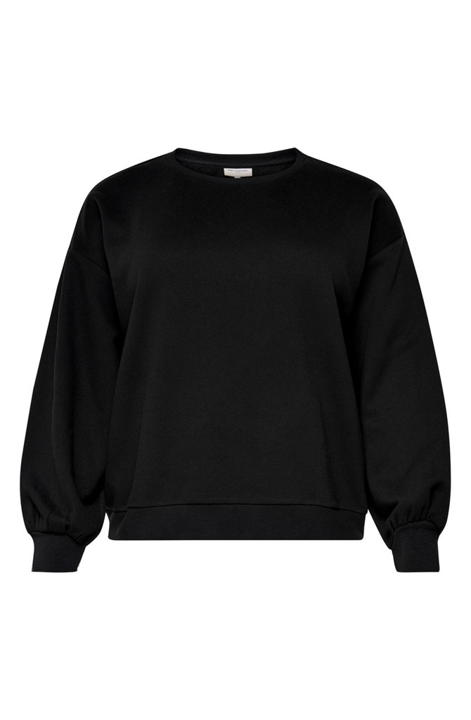 Lulu sweater ballon sleeve Black-1