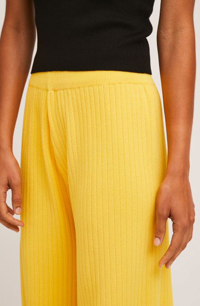 Gaëlle knitted pant Yellow-3