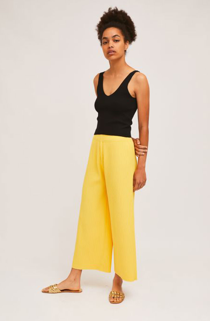 Gaëlle knitted pant Yellow-2