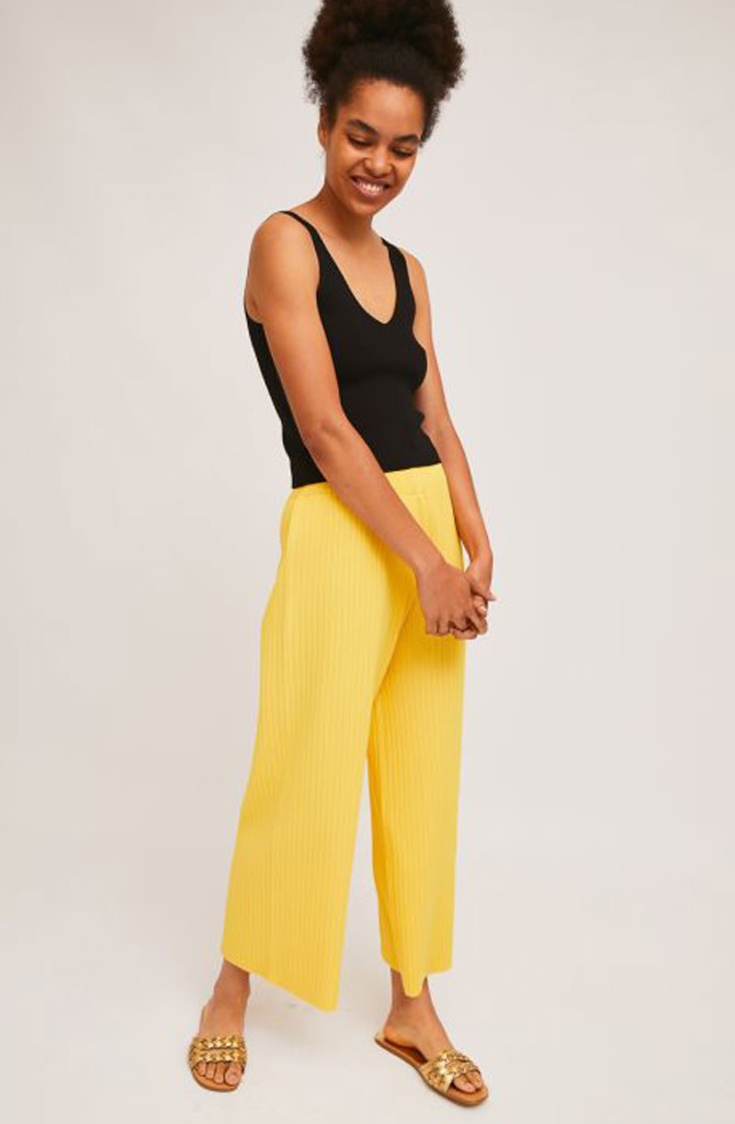 Gaëlle knitted pant Yellow-1