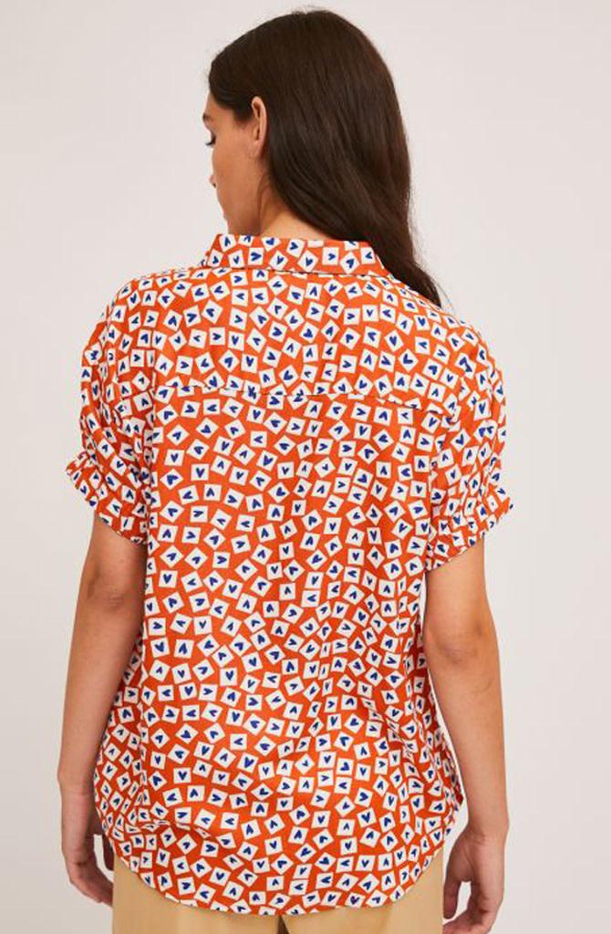 Jaelyn heart blouse Orange-2