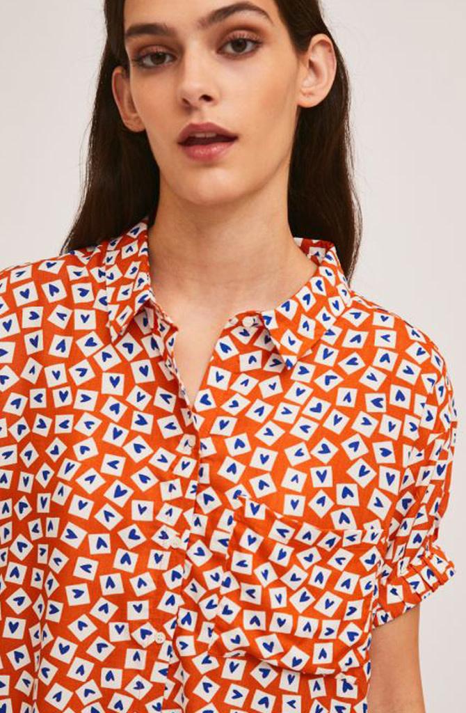 Jaelyn heart blouse Orange-3