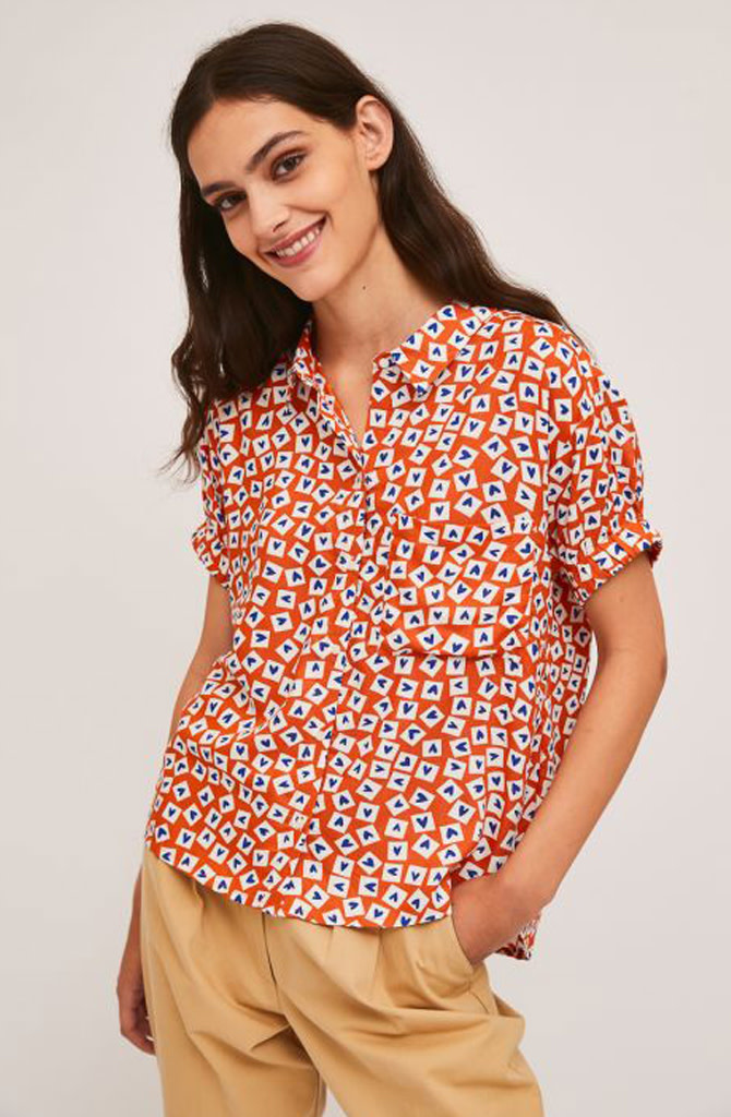 Jaelyn heart blouse Orange-1