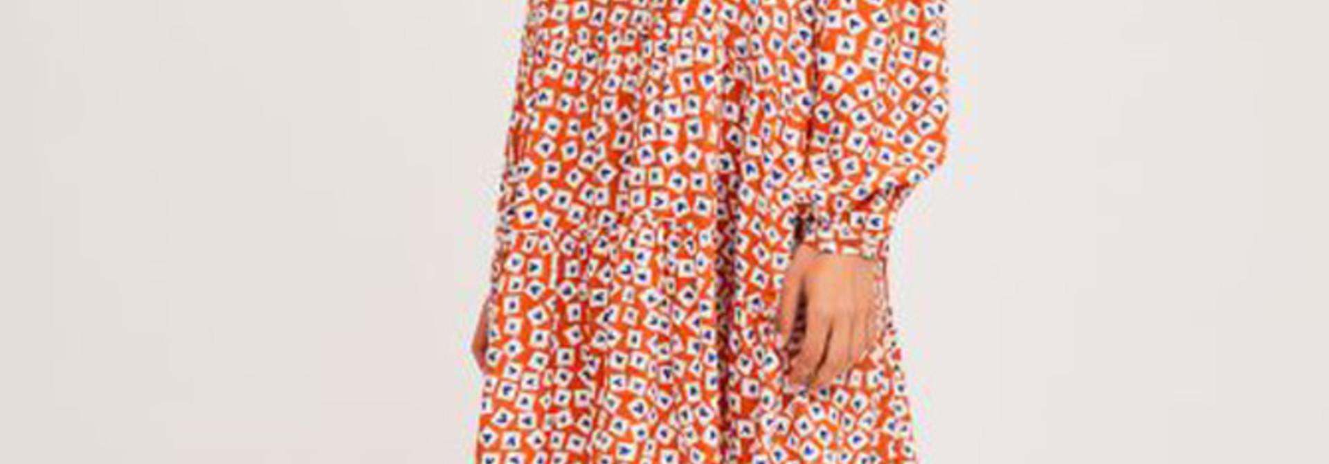 Jaelyn heart dress Orange