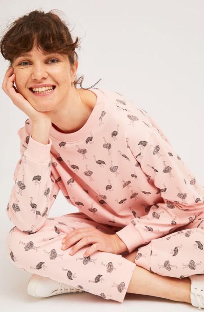 Pleaum ostrich homewear sweater-1