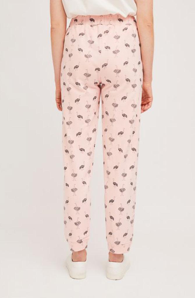 Pleaum ostrich sweatpant homewear Pink-4