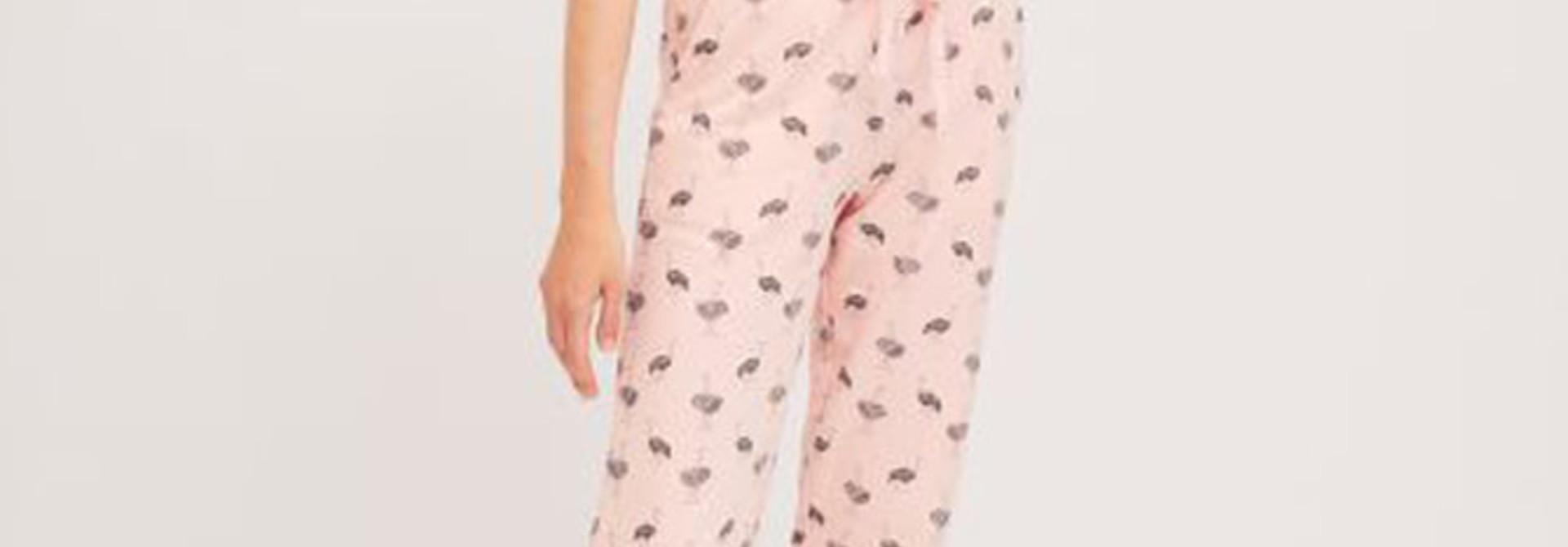 Pleaum ostrich sweatpant homewear Pink