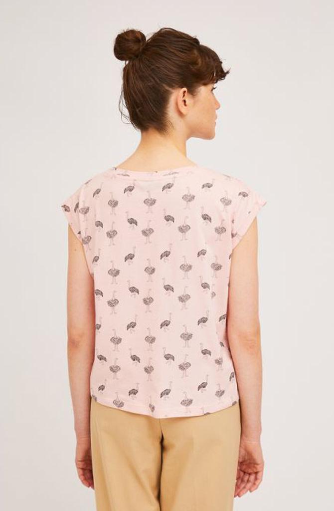 Pleaum ostrich t-shirt Pink-3