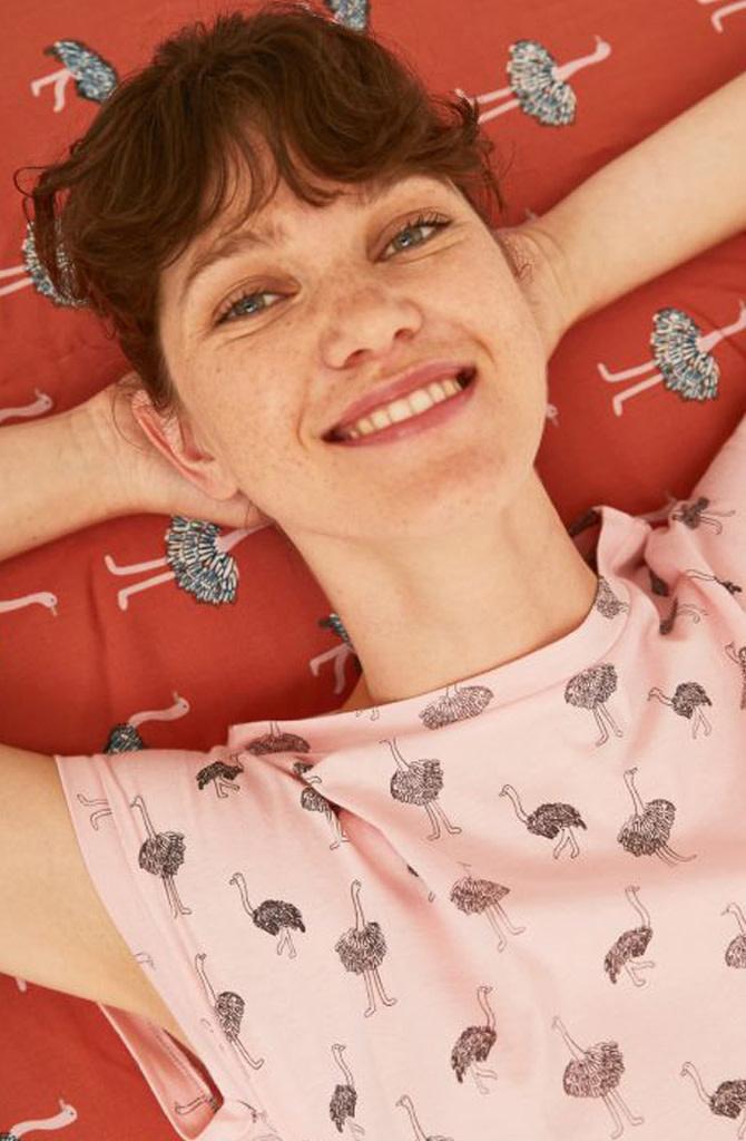 Pleaum ostrich t-shirt Pink-2