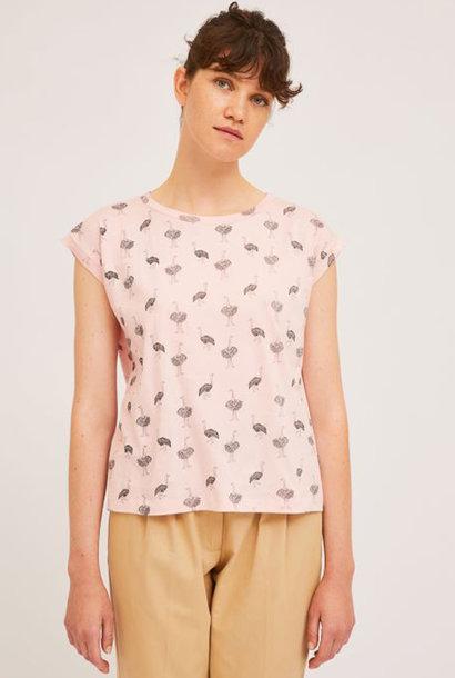 Pleaum ostrich t-shirt Pink