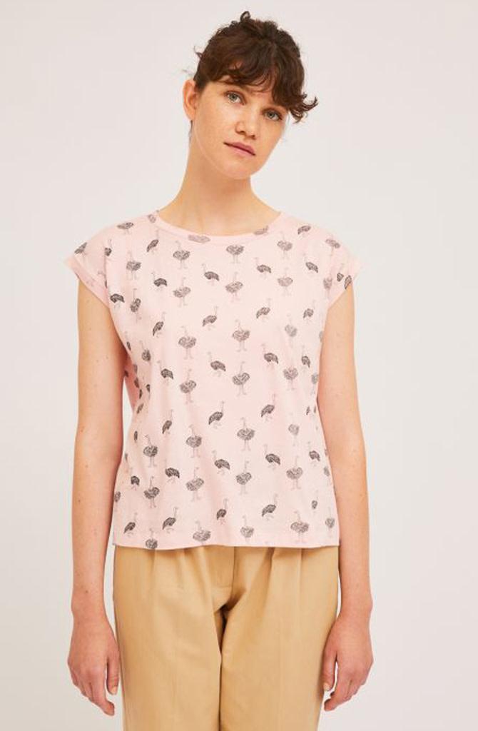 Pleaum ostrich t-shirt Pink-1