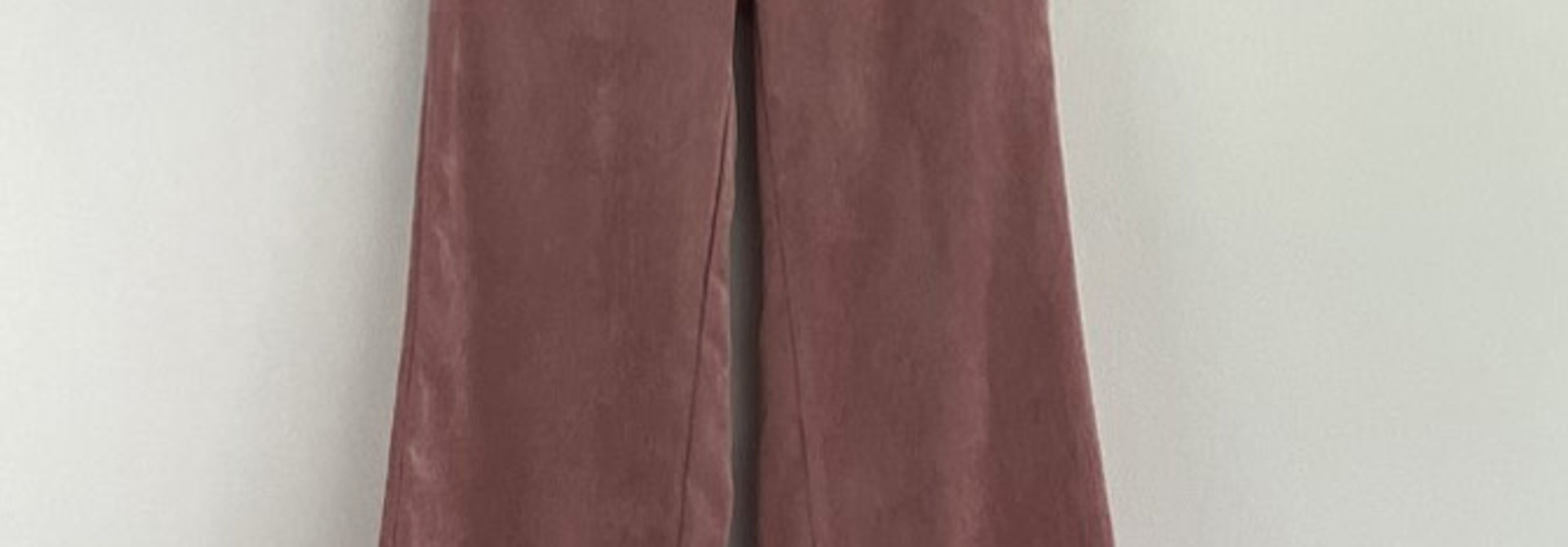 Charro corduroy wide pant Old Rose