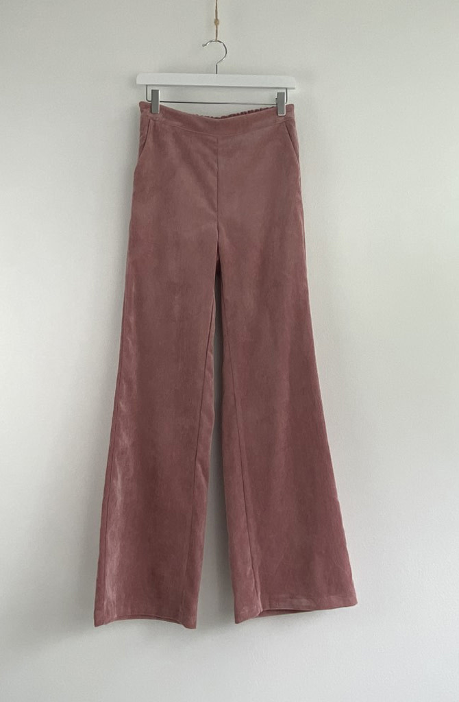 Charro corduroy wide pant Old Rose-1
