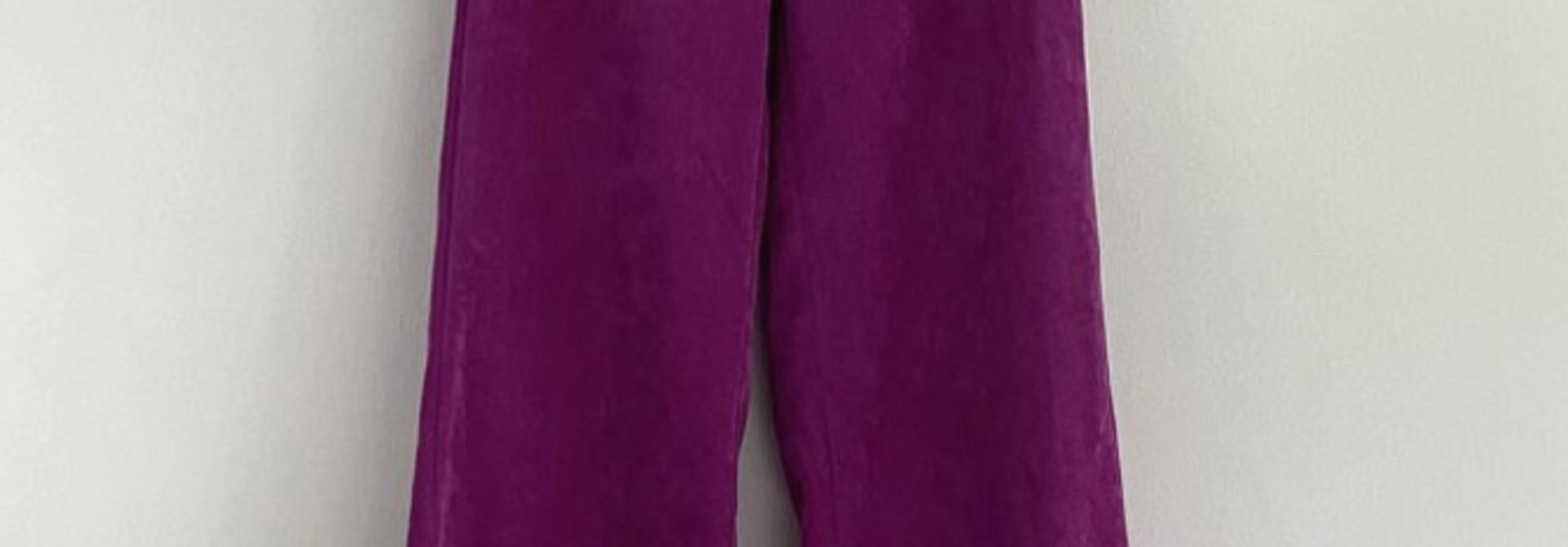 Charro corduroy wide pant Fushia