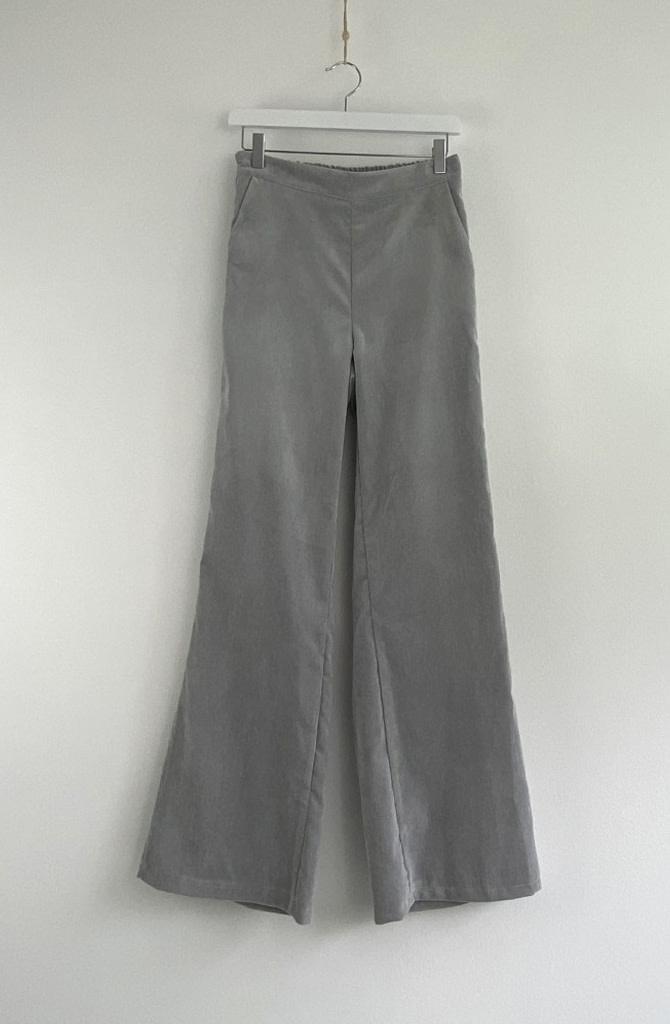 Charro corduroy wide pant Grey-3