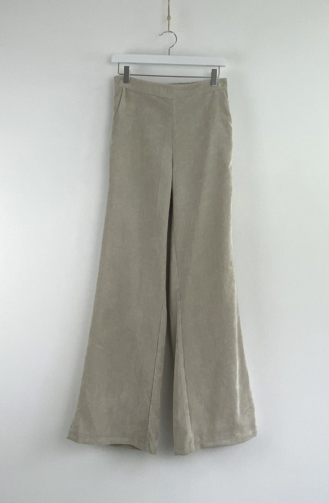 Charro corduroy wide pant Beige-6