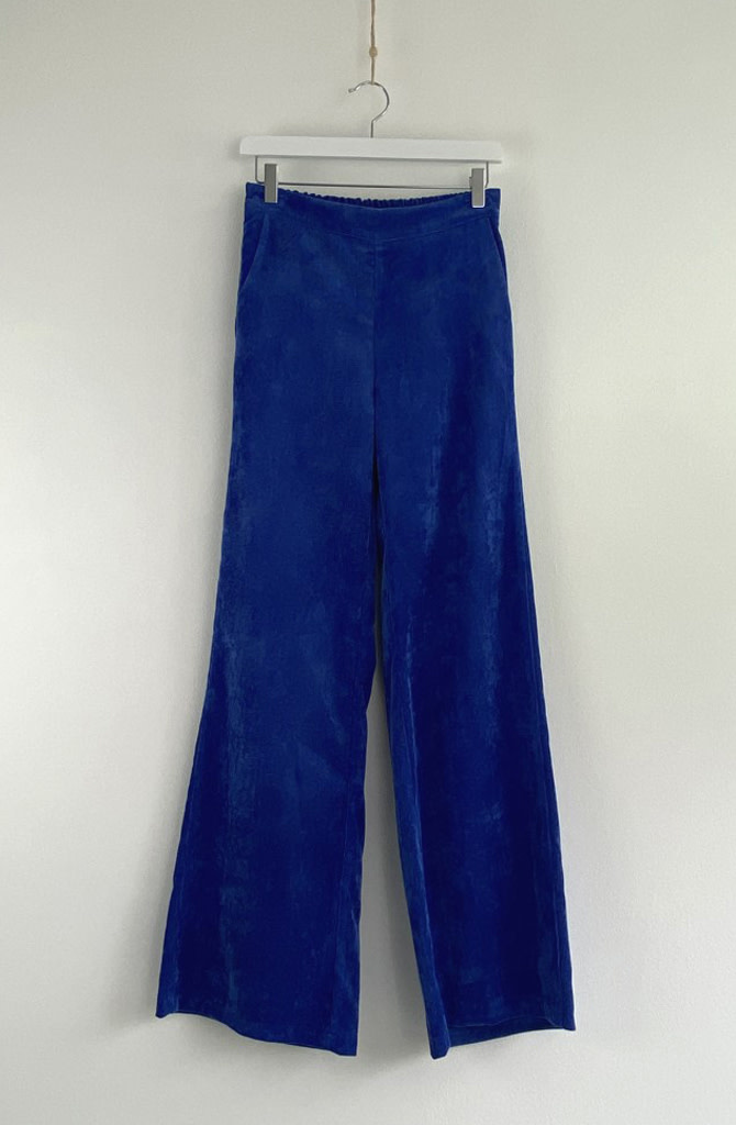 Charro corduroy wide pant Royal Cobalt-1