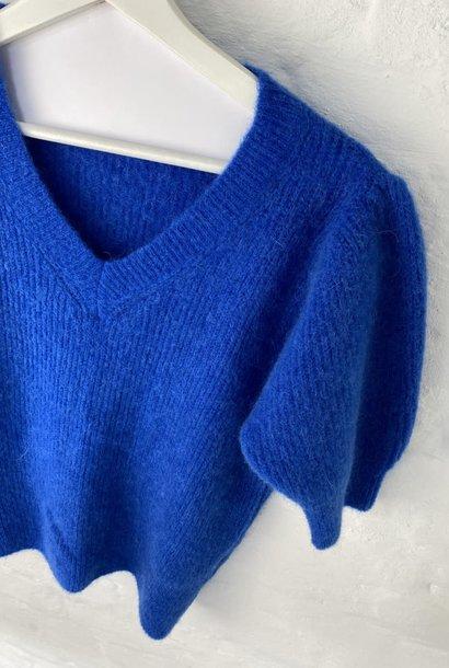 Katey soft knitted t-shirt Cobalt Blue